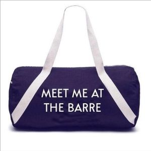 Orivate Party Meet me at the Barre Workout Gym Bag